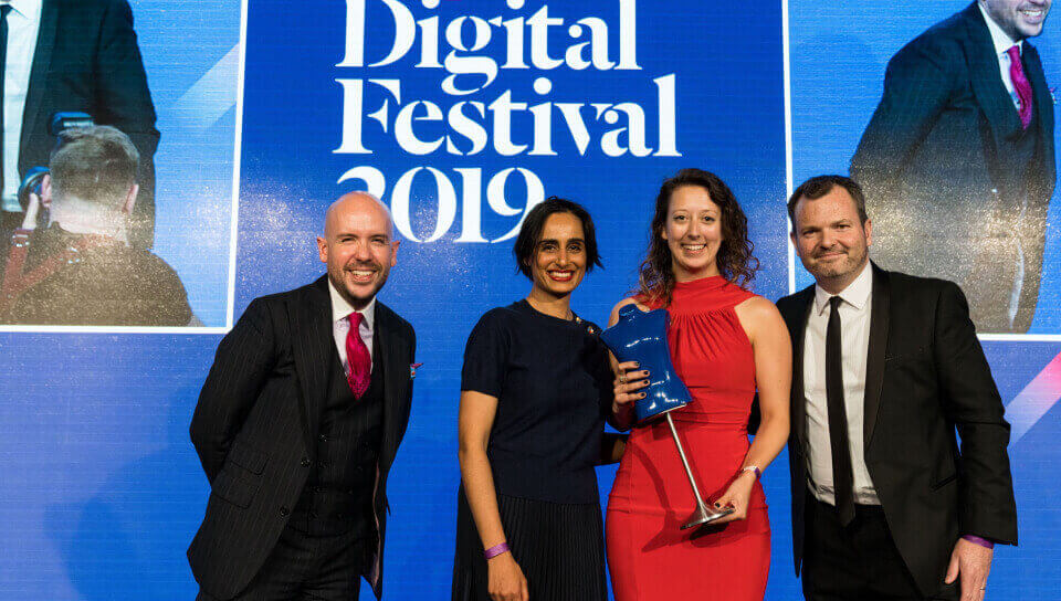 Background picture: Antavo is a winner of the Drapers Digital Festival 2019.