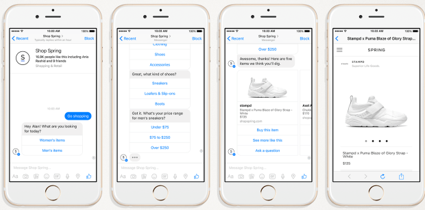 Did you know Facebook Messenger and Spring can be used to sell products on mobile?