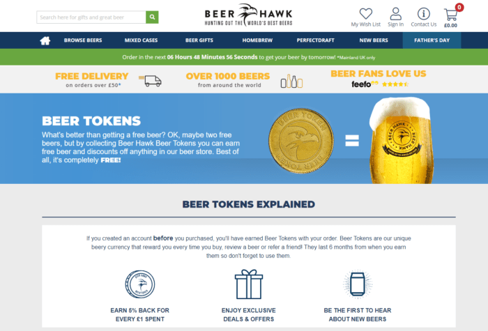 BeerHawk loyalty program