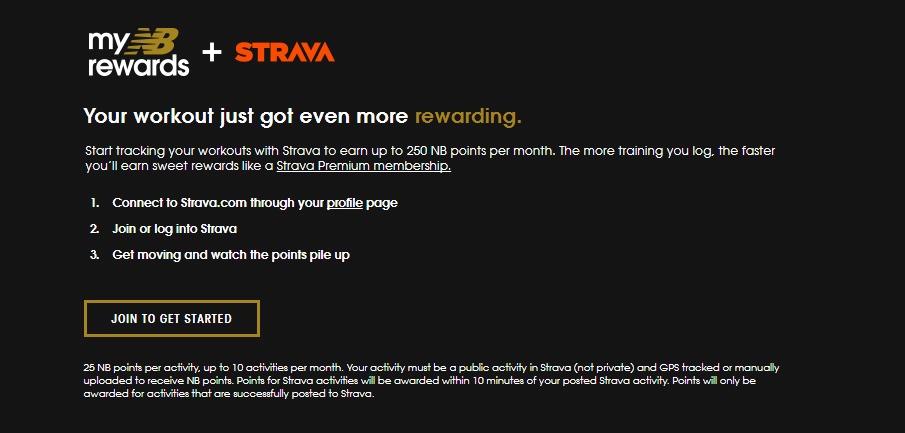 New Balance and Strava rewards