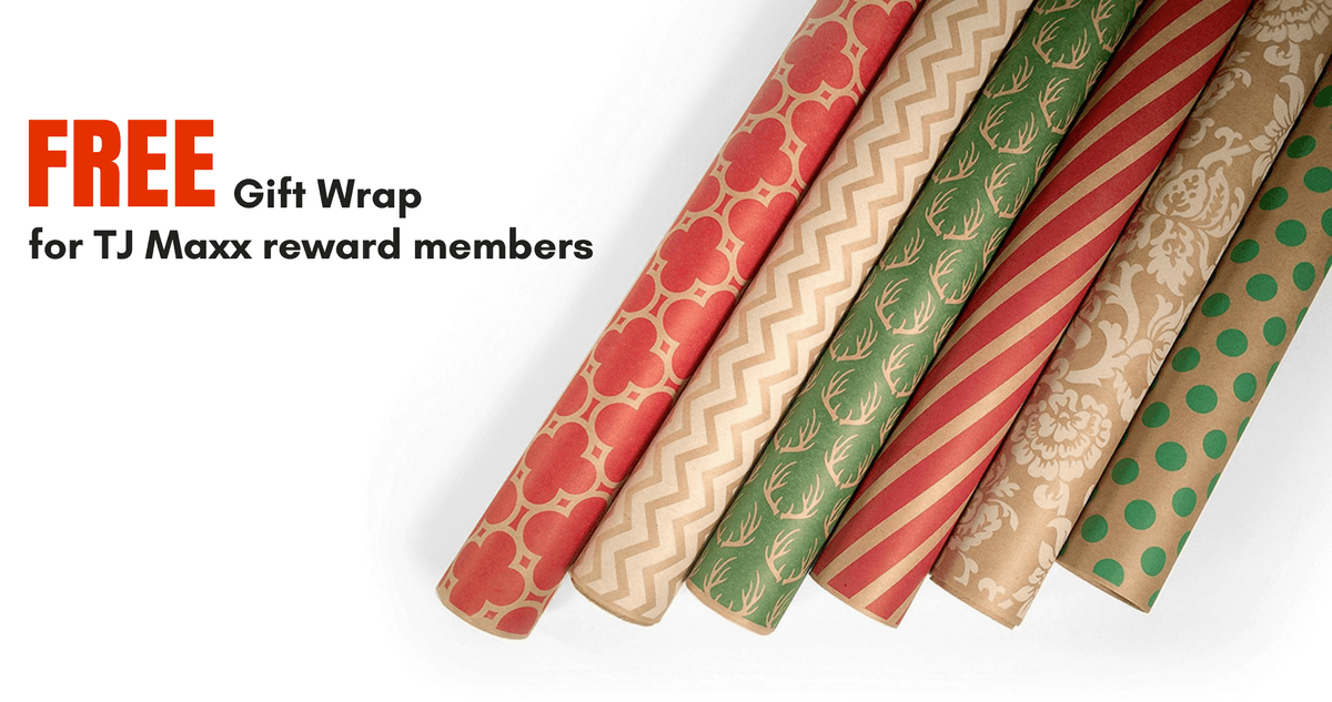 In a past holiday campaign, TJ Maxx offered free gift wrap to customers to significantly increase enrollment into its loyalty program.