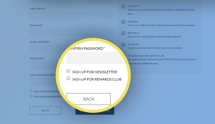 gdpr example registration form