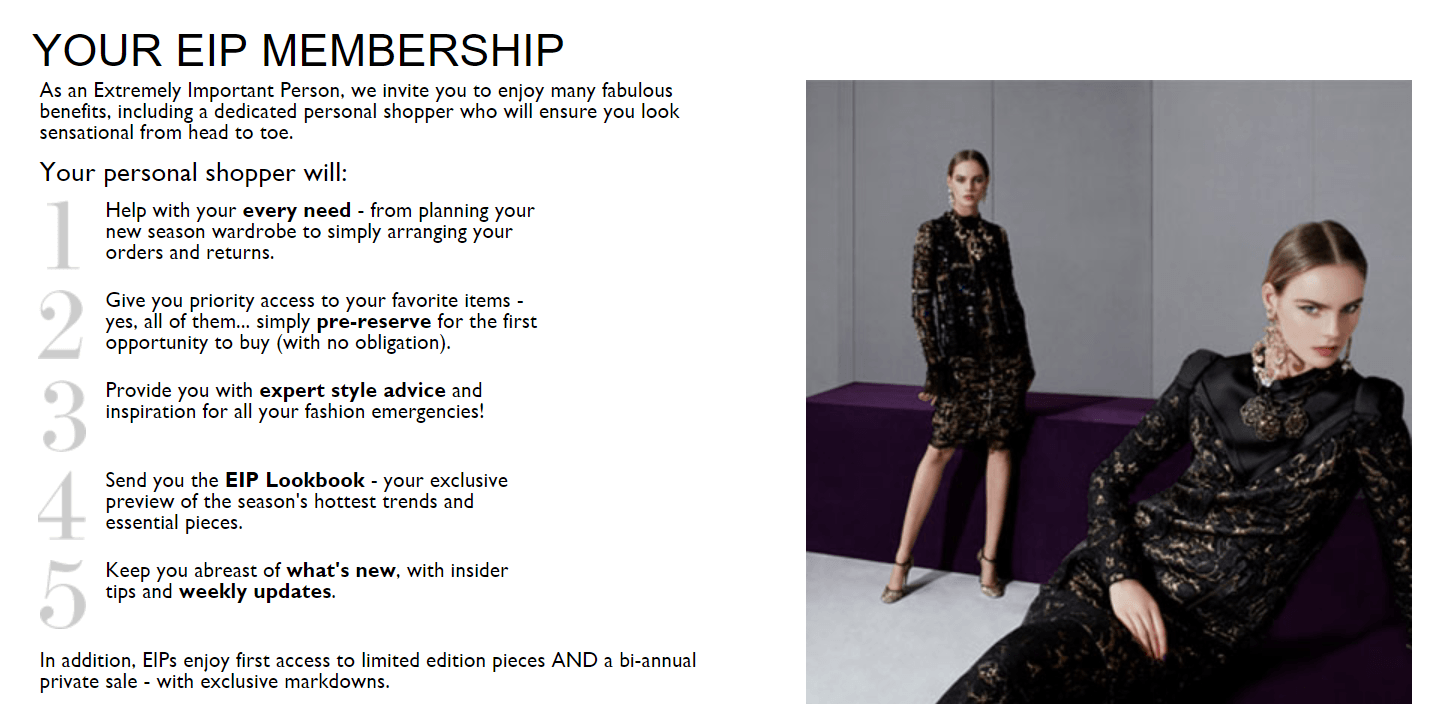 Yoox Net-A-Porter EIP fashion loyalty program