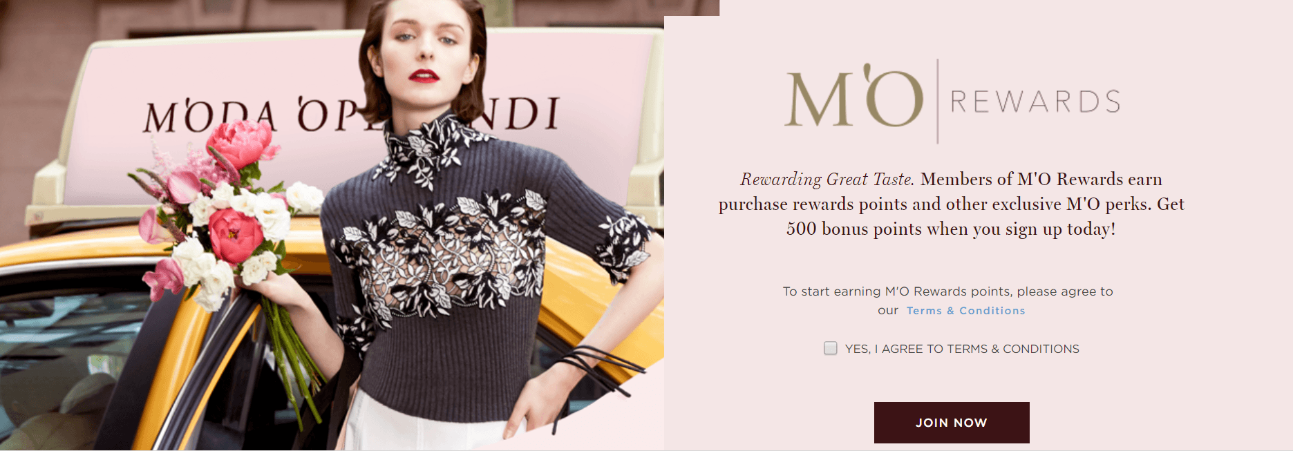 Moda Operandi M'O Rewards fashion loyalty program