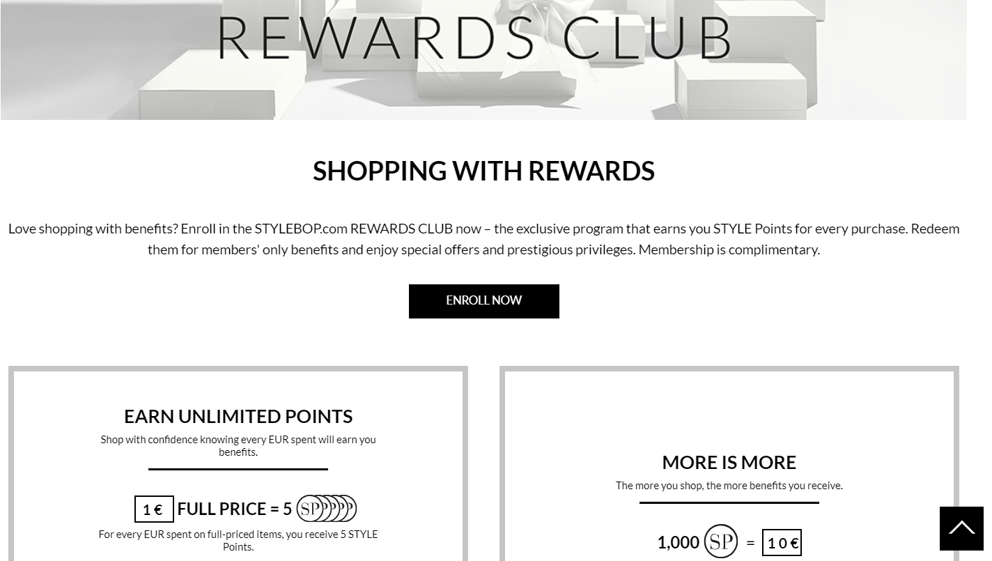 StyleBop Rewards Club fashion loyalty program