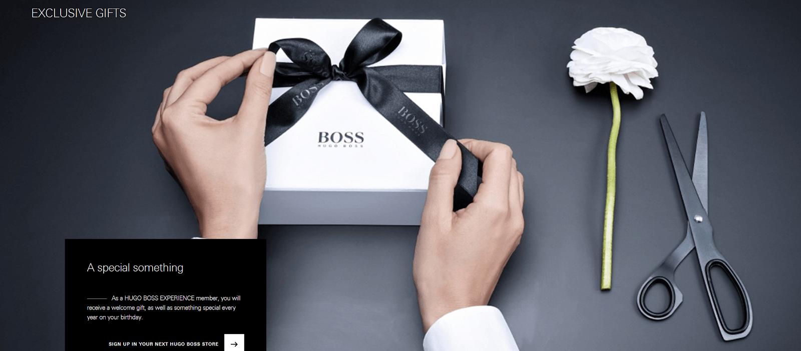Hugo Boss redemption loyalty program