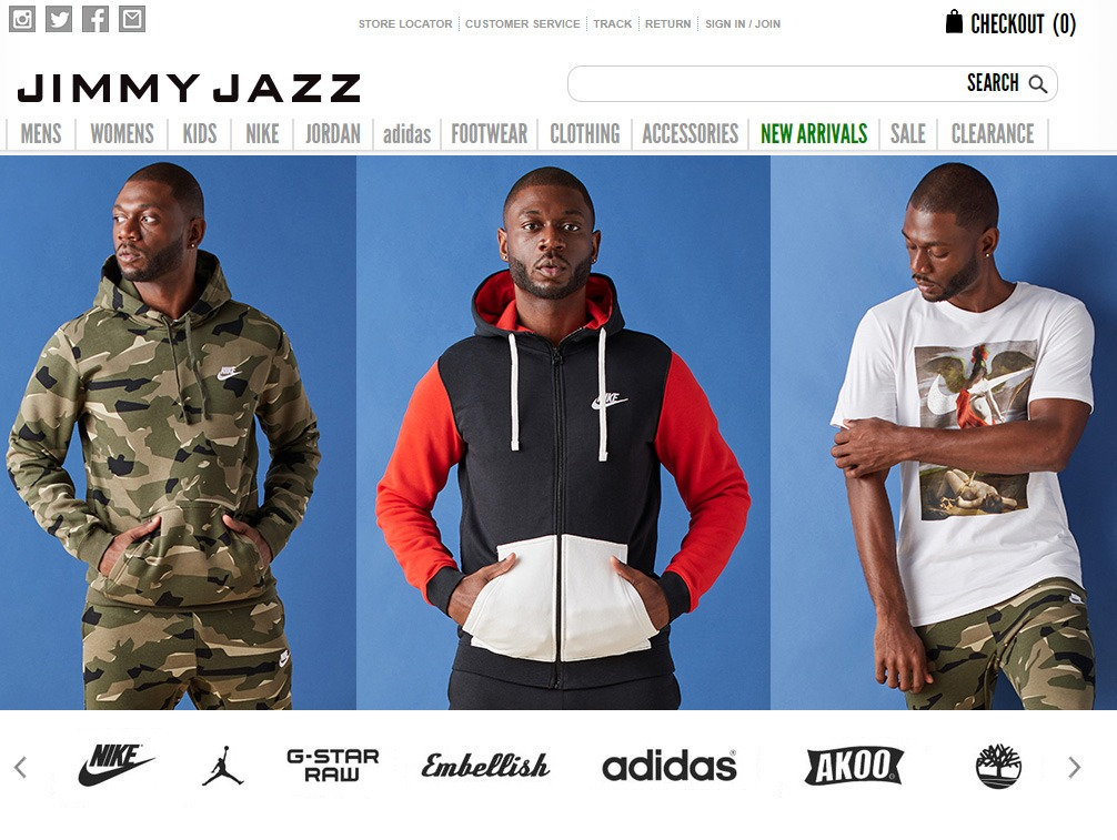 Website of Jimmy Jazz
