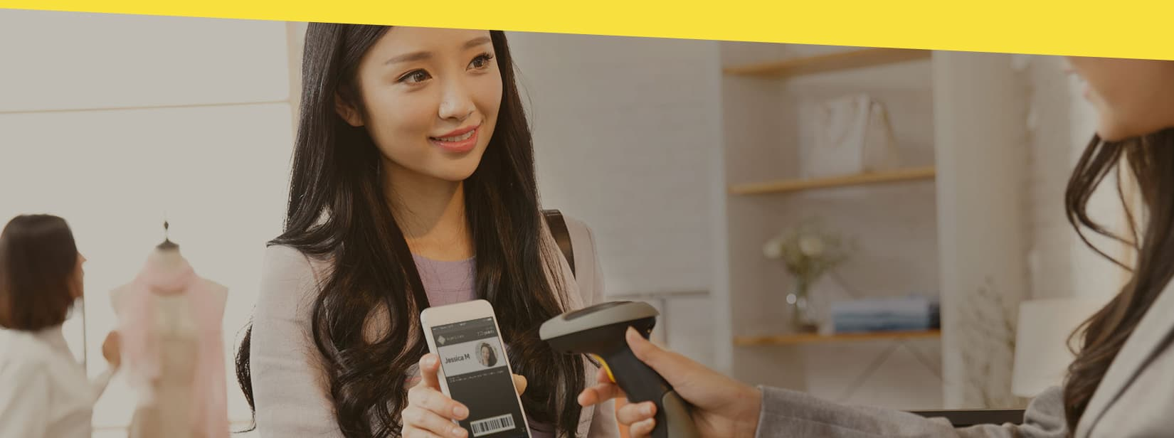 The sought-after behavior from the customer - when they identify themselves at your POS with the help of a mobile pass.