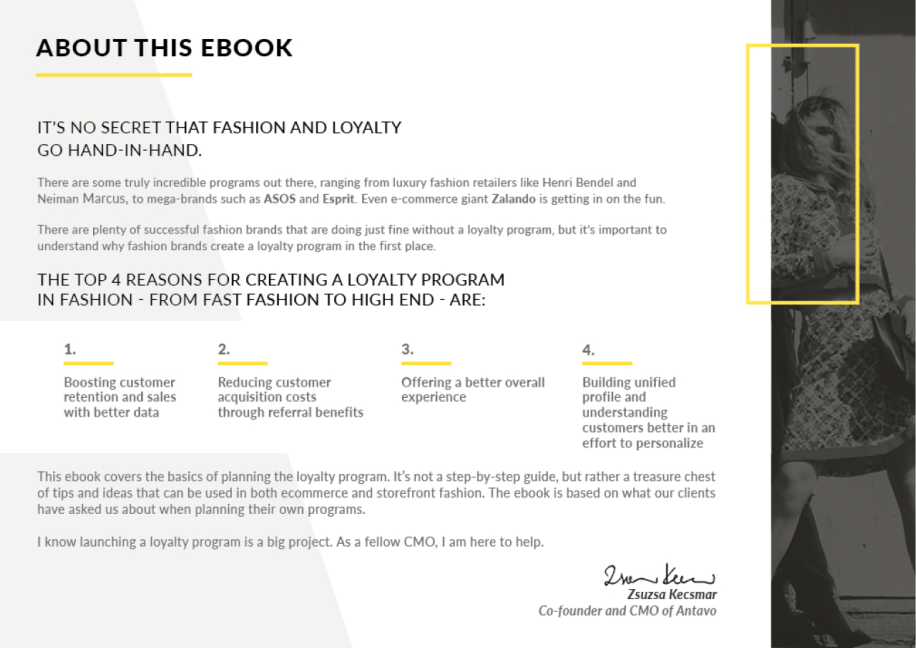 Antavo's Ebook: How to Create a Successful Loyalty Program for Fashion - About this ebook.
