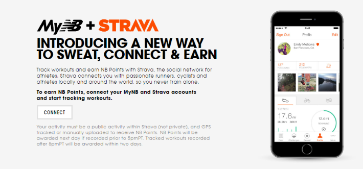 Tracking your workout with Strava earns you 25 NP points per workout, for a maximum of 250 points per month.
