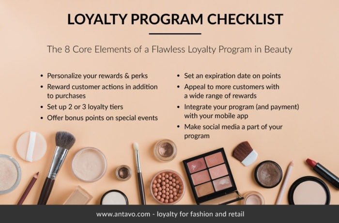 Beauty checklist for lancome elite rewards