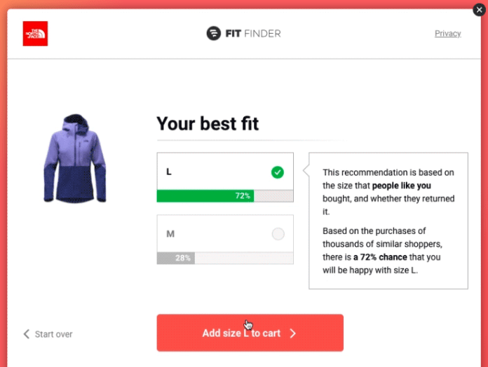 Fit Analytics' sizing solution is equally useful for brands and customers. The former can shop more easily knowing that they don't need to send back the product, while companies receive valuable customer data.