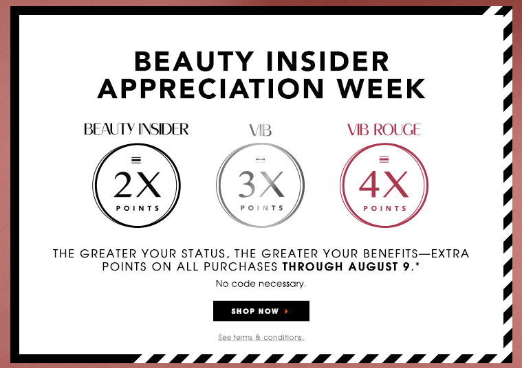 Sephora Beuty Insider double point event