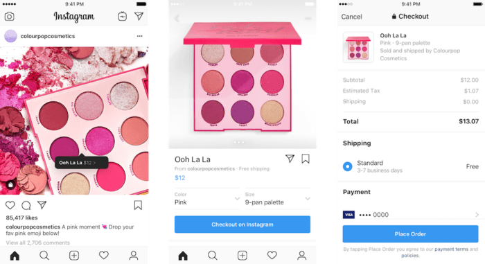 Instagram shopping feature explained in an easy checkout flow