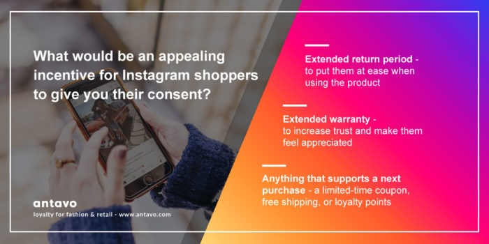 Instagram shopping customer incentives