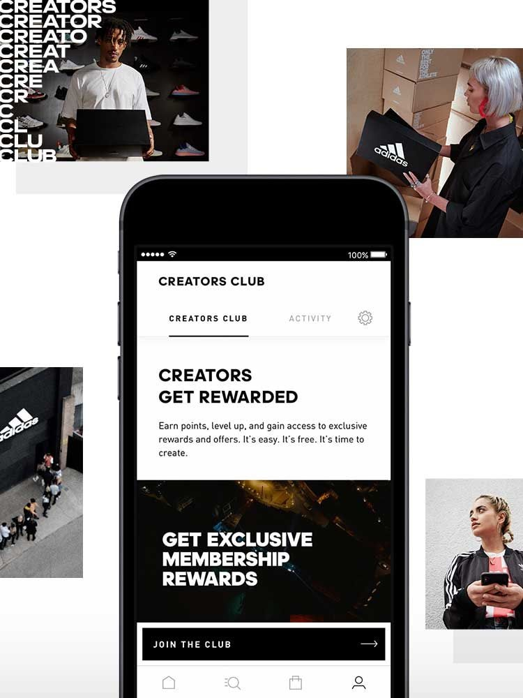 Adidas encourages members to live an active lifestyle by rewarding members for using its workout app.