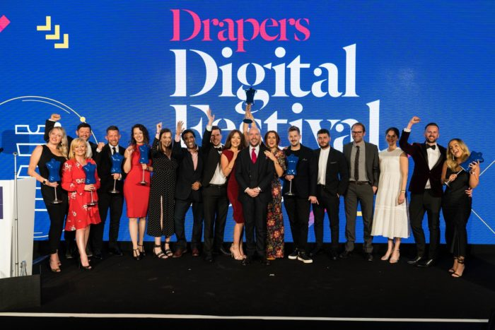 Drapers Digital Awards category winners group photo