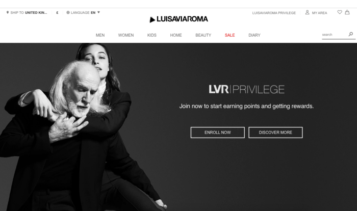 LuisaViaRoma Privilige is a great program for customer engagement