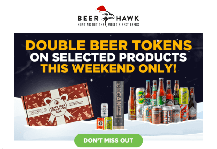 Beer Hawk email campaign