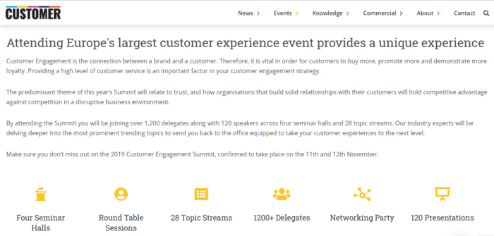 Customer engagement summit