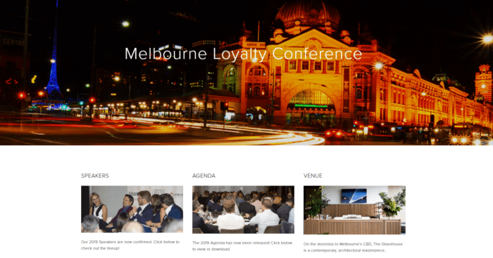 Melbourne customer loyalty conference