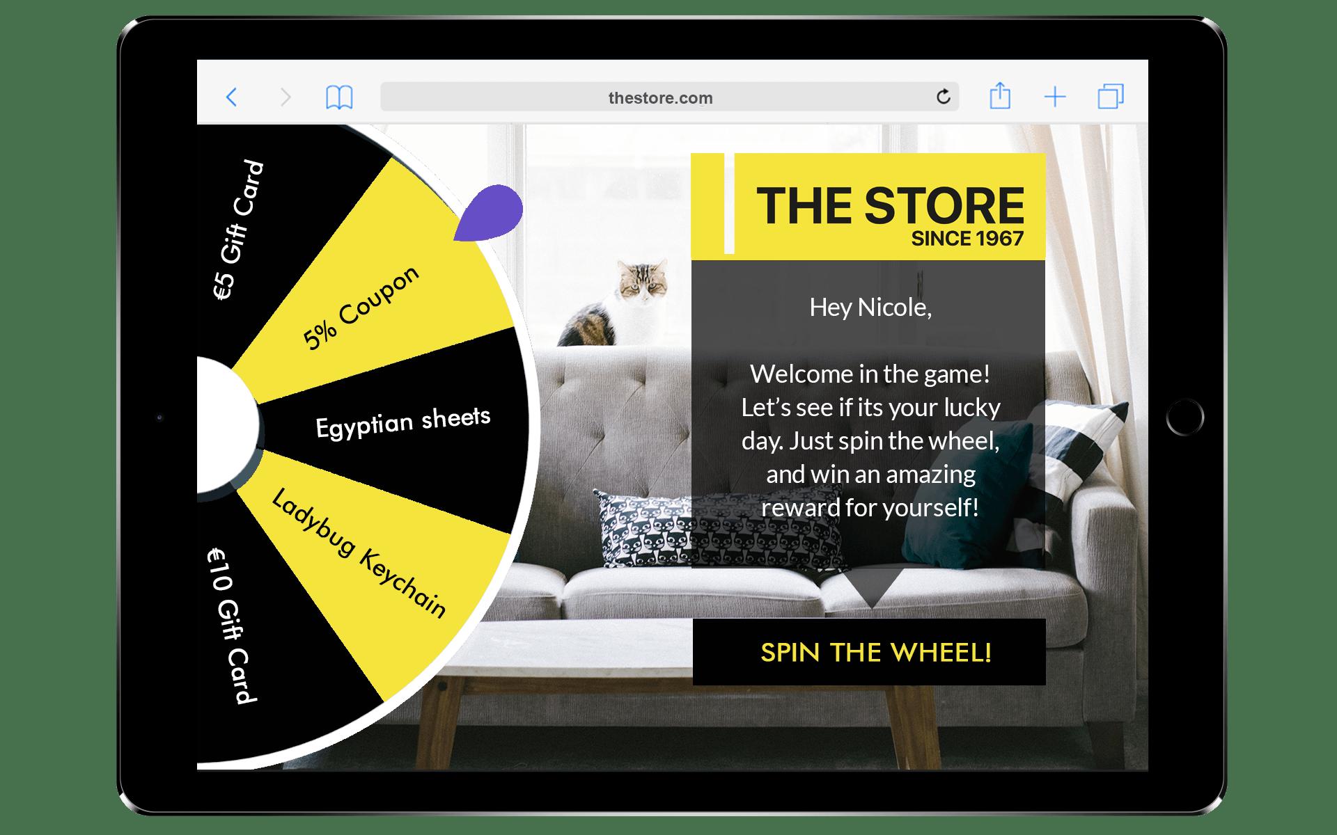 Antavo Prize Wheel