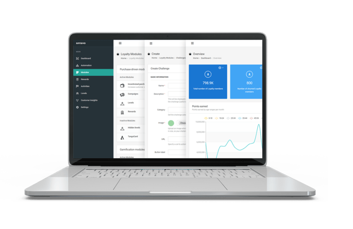 Antavo designed its Loyalty Management Platform to simplify the working lives of CRM teams. They enjoy more freedom and efficiency when using our tools, thanks to the intuitive UI.