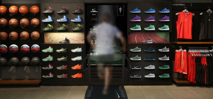In order to make the store experience truly personalized, Nike employs professional trainers to help customers test their sneakers.