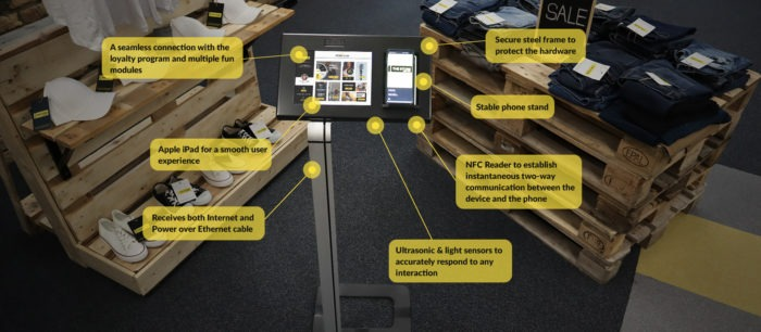 Antavo designed and built the Loyalty Experience Kiosk from the ground up, focusing on a smooth user experience and practicality.