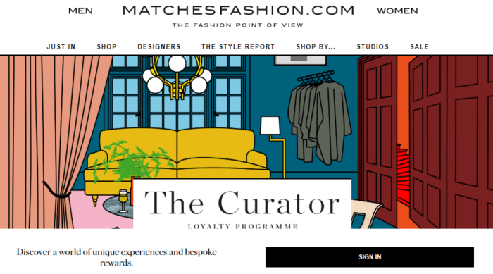 Some of the rewards on MATCHESFASHION.COM include free shipping (for top-tier members only), birthday rewards, invitations to private sales and seasonal styling consultations.