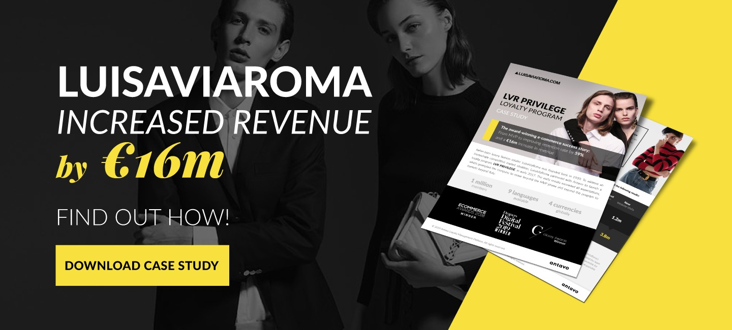 Luisaviaroma Case study about Antavo's most succesful loyalty program