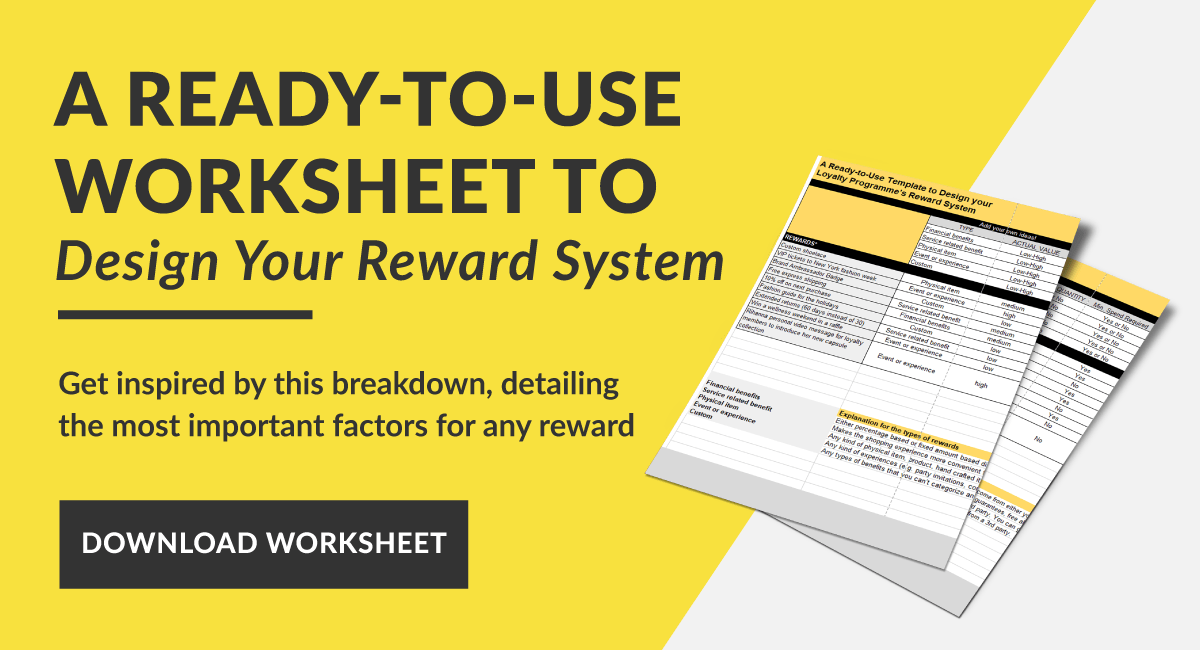 Reward planning worksheet banner
