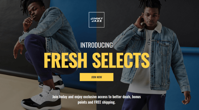US-based streetwear retailer Jimmy Jazz runs a raffle on Facebook that is independent of its loyalty program. However, members of the Fresh Selects program automatically receive additional entries as a 'custom' benefit.