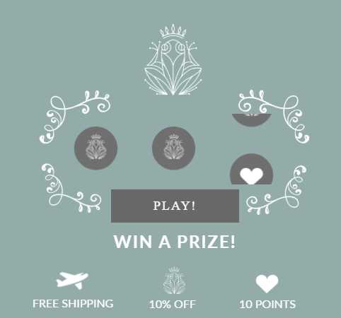 Luxury kidswear retailer Shan & Toad offers a little game during the first time members visit the loyalty program. This prize spin is very enticing and draws in people easily.