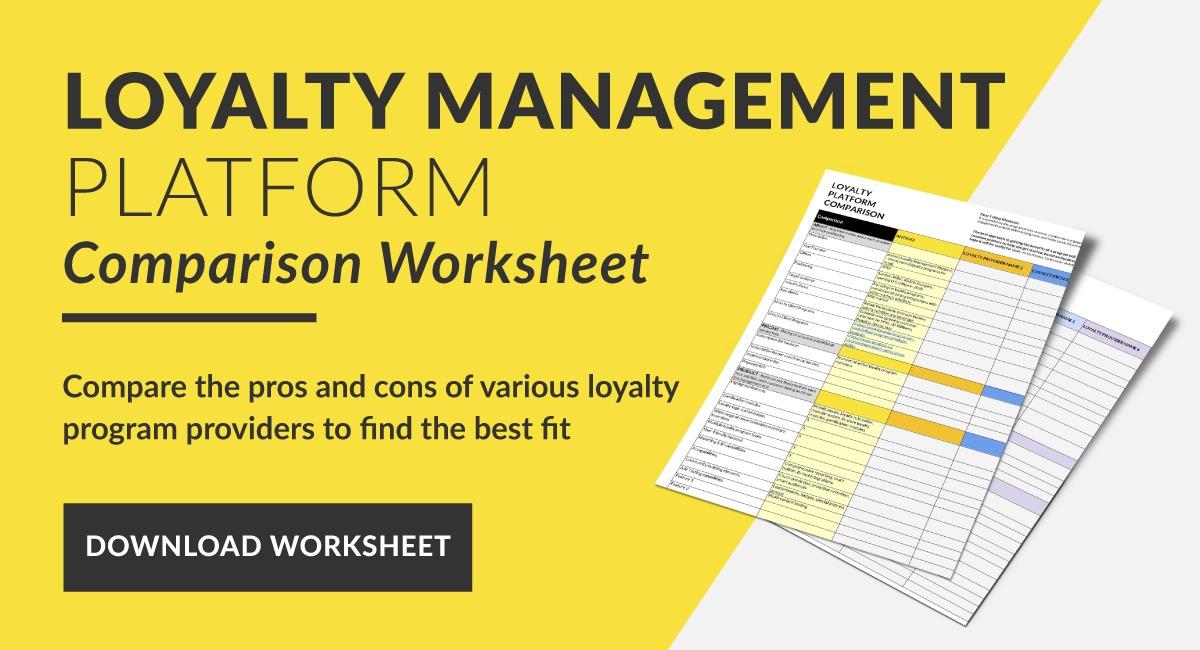 Loyalty Management Platform Comparison Worksheet