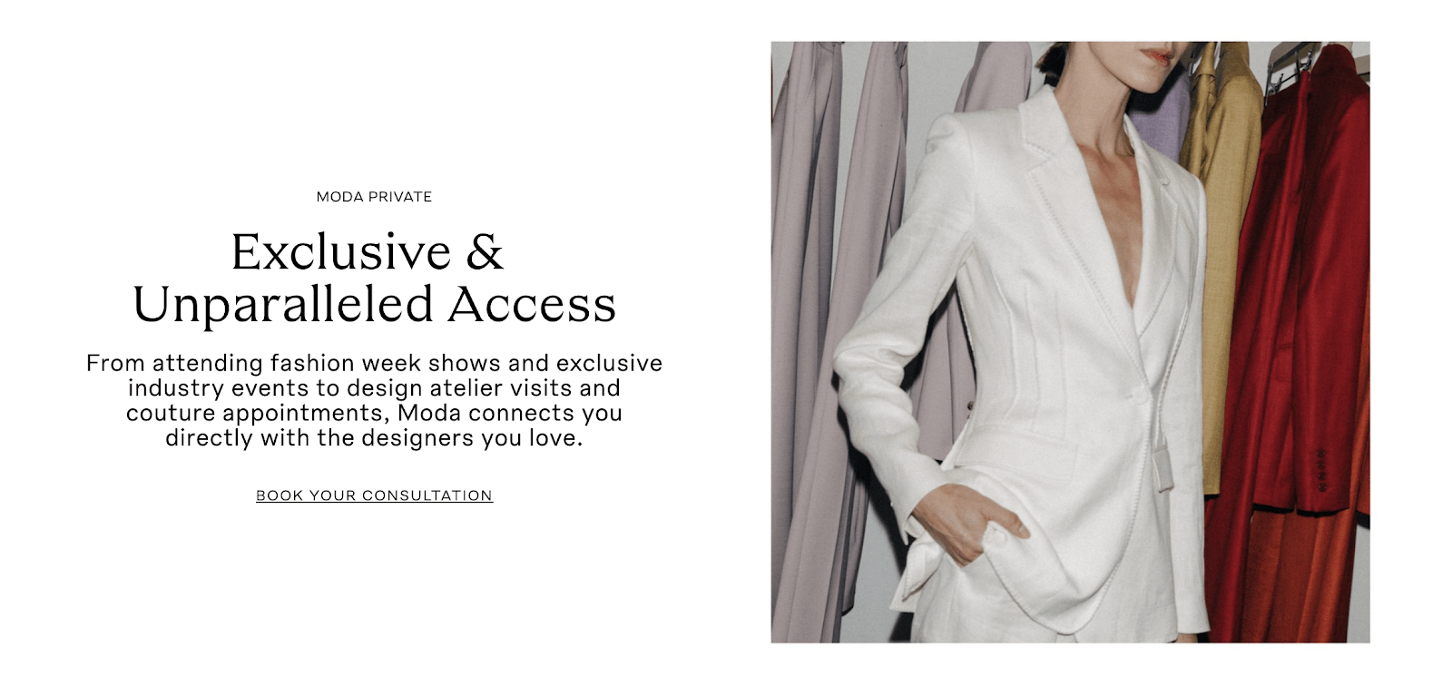 Moda Operandi also has showrooms in New York, London, Hong Kong where customers can request a session with a private stylist or partake in members-only events, classes and panels.