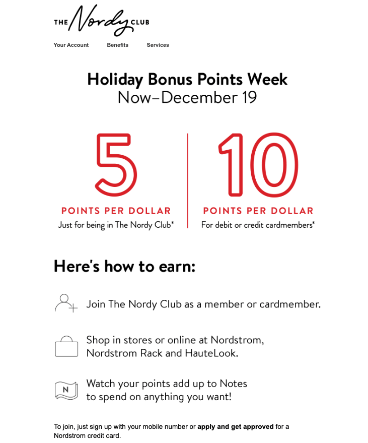 Nordstrom email campaign