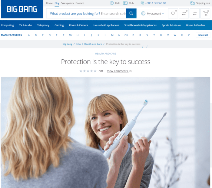 Electronic retailer Big Bang educates customers on how to use certain electronic devices - like toothbrushes - the correct way, often dispelling common myths.