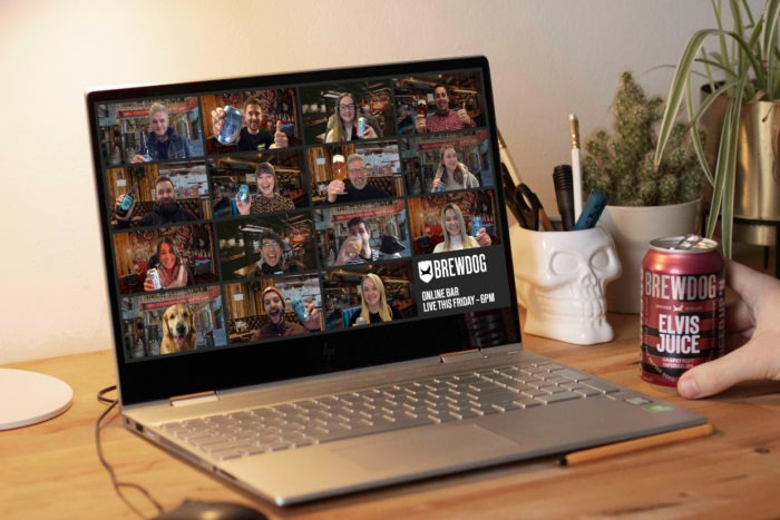 BrewDog's virtual pubs feature live music streams and cooking sessions as well, creating an authentic pub experience.
