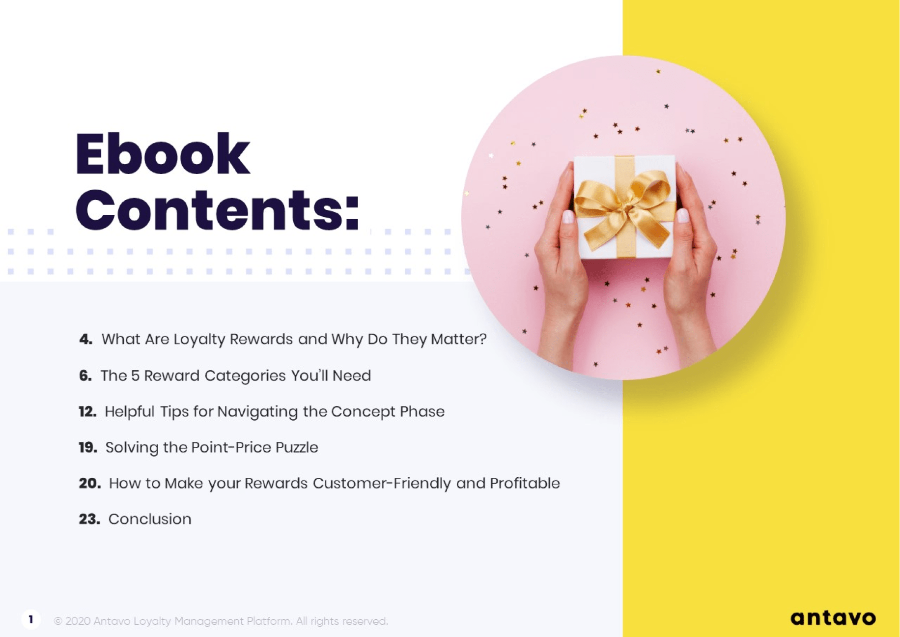 Take a look inside Antavo's Ebook: The Ultimate Guide to Loyalty Program Rewards.