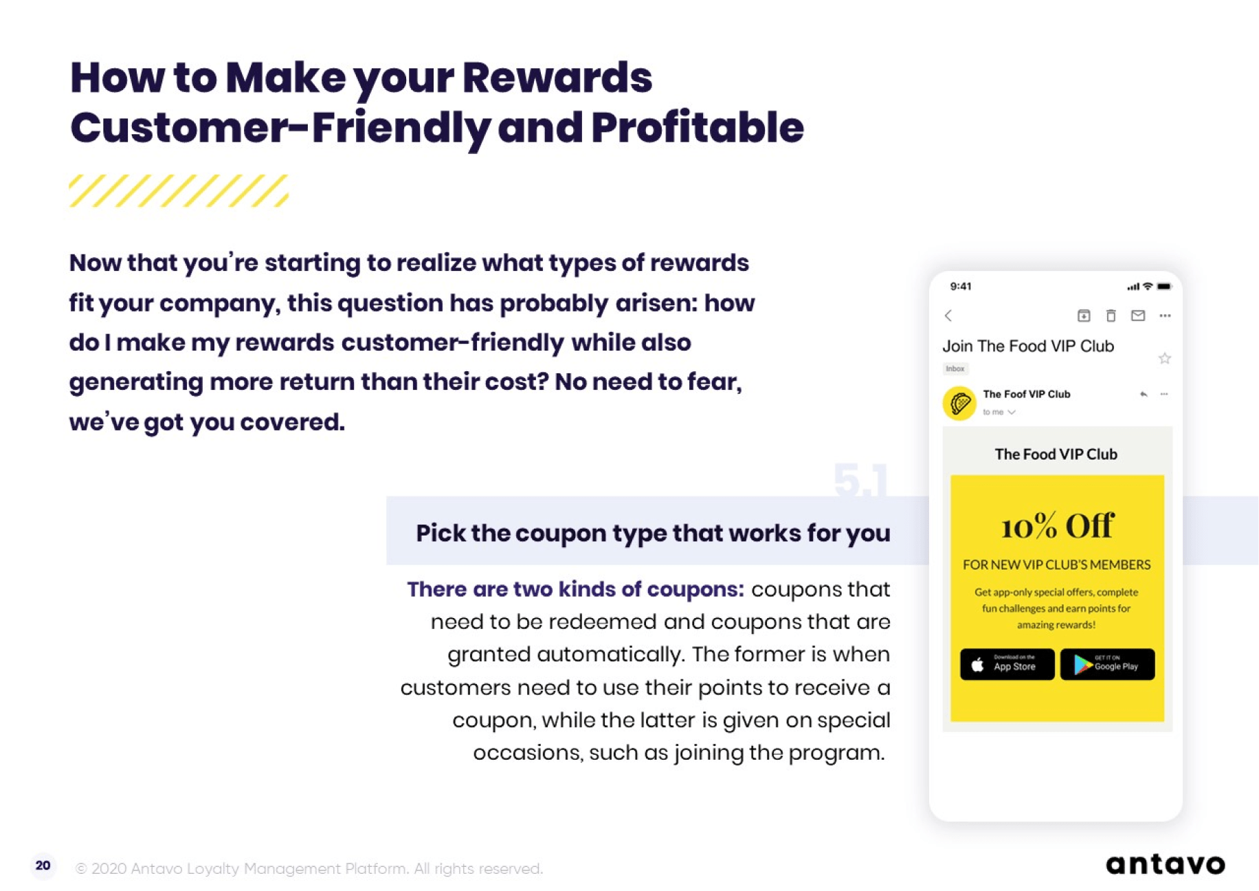 Antavo's Ebook: The Ultimate Guide to Loyalty Program Rewards- How to make your rewards customer-friendly and profitable.