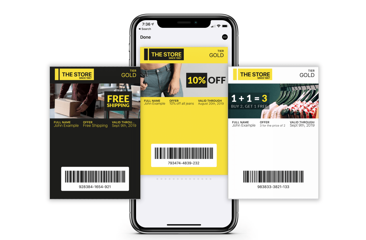 With the Mobile Wallet, customers can easily access information about their membership, and see all their coupons and offers in one place.