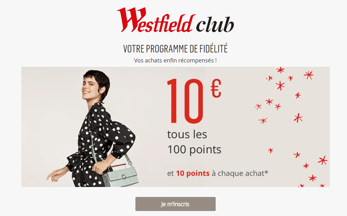 Besides the authentic Westfield malls, the company also owns malls around Europe that aren't running under 'Westfield' name, and they provide a different kind of loyalty program, with different offers and special services.