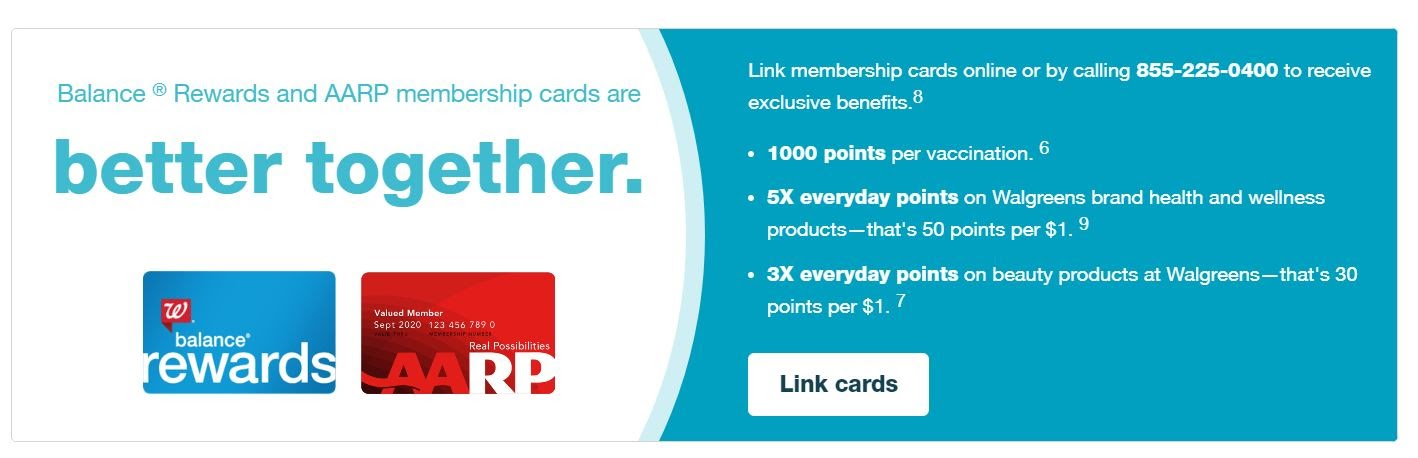 Walgreens' loyalty program also synergizes with other services, such as the AARP, granting members additional benefits for combining the two.