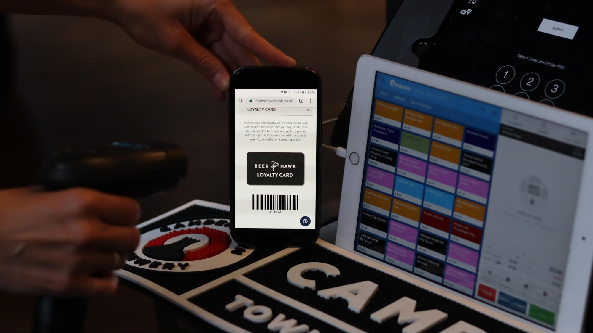 UK-based specialty beer retailer Beer Hawk uses a digital loyalty card system. After scanning a member's card, bartenders can give personalized beer recommendations to patrons by seeing their purchase history.