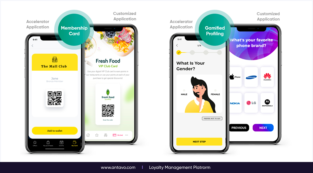 With a set of out-of-the-box loyalty app elements at your fingertips, you can speed up the development process by months, allowing you to focus your development resources on other projects.