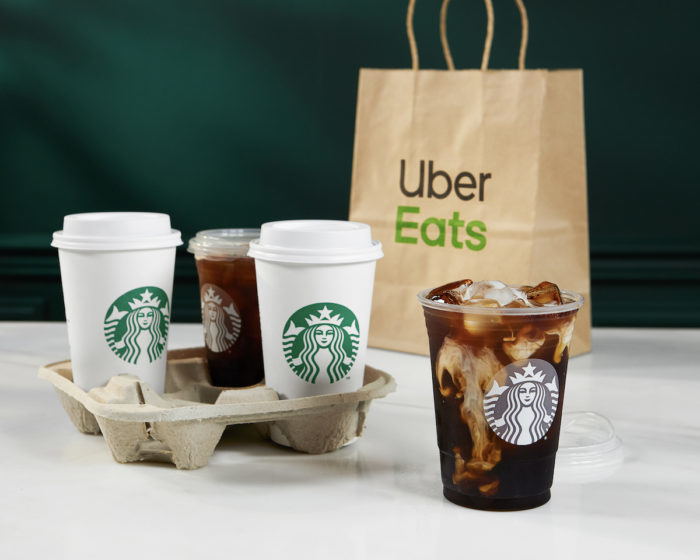 During COVID-19 Starbucks expanded its delivery service, partnering with Uber Eats to deliver coffee in 49 cities in the US.