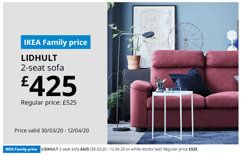 At IKEA Family, there are no points, customers only receive discounts via members-only offers.