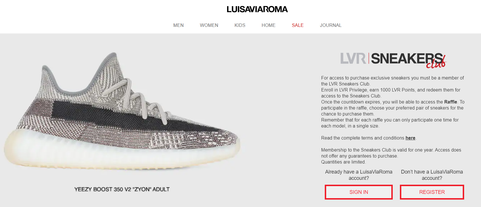 Another feature that relies heavily on emotional investment and a desire for privilege status is early access. Italian luxury fashion retailer LuisaViaRoma created an early access-centric insider group within its loyalty program, called Sneakers Club.