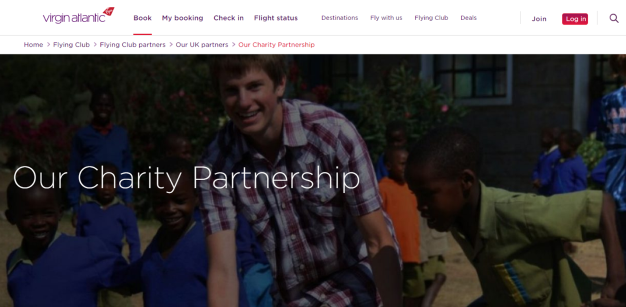 Virgin Atlantic lets customers donate points to charity, which is a great humanitarian option.